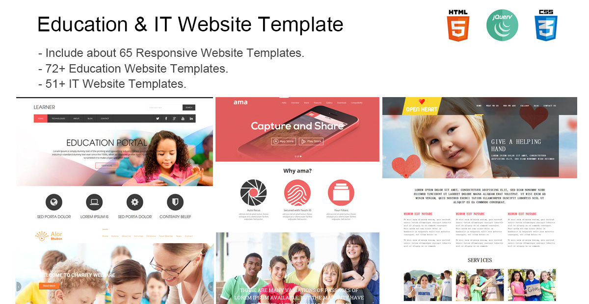 Website Template (Education & IT) With Html Files – UJOINSofts
